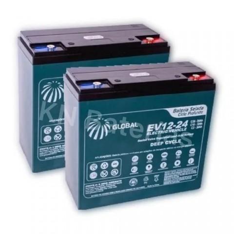 Kit 2 Bateria - Ortobras 12v 24ah